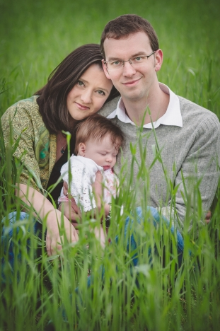 Family in field portrait