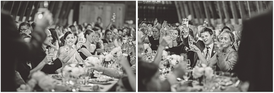 bride and groom toasts