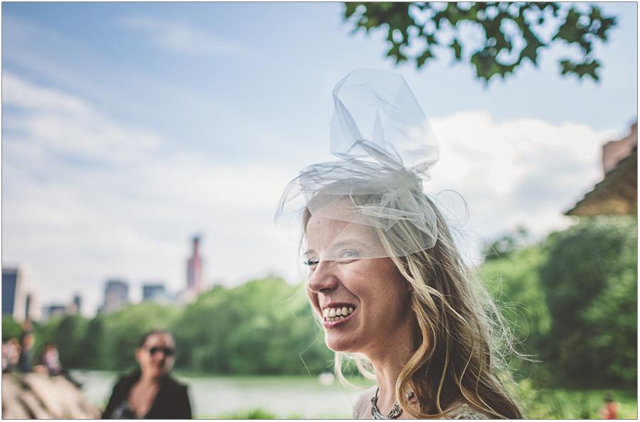 Bride Veil Central Park Weding