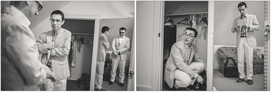 same sex wedding groom prep