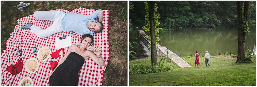 outdoor picnic wedding theme
