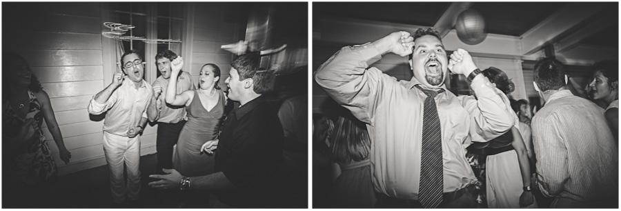 singing the night away at a Princeton wedding reception
