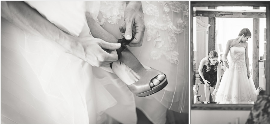 finishing touches for bride prep
