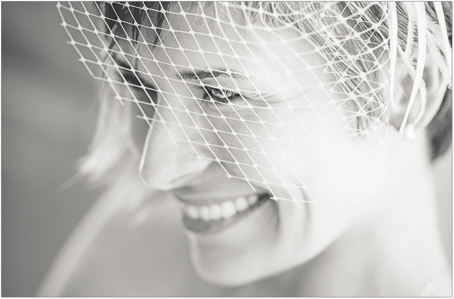 Wedding Hair Net Portrait