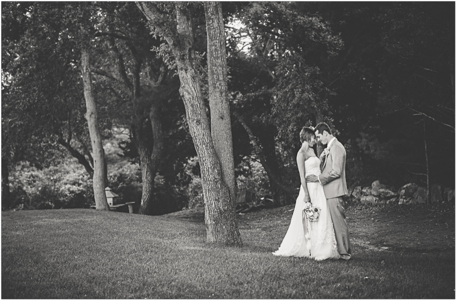 bride and groom take some time to love durring portraits