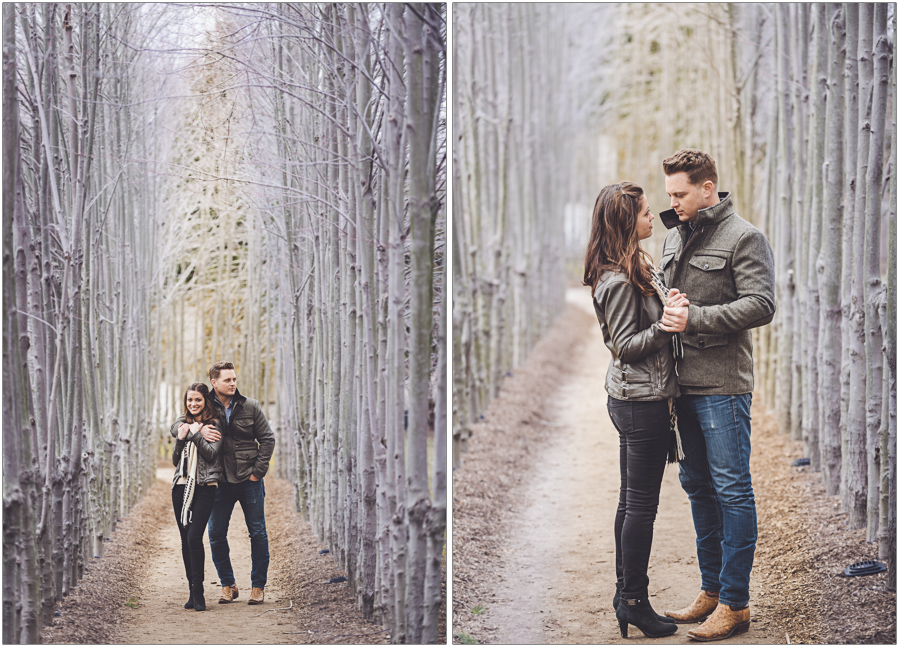 early spring grounds for sculpture engagement session