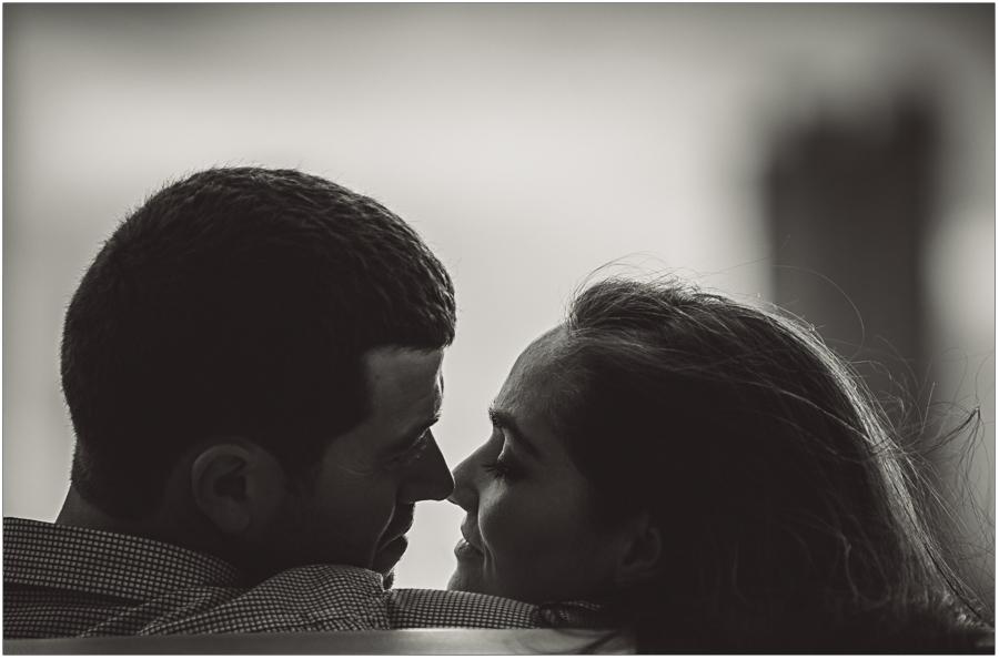 engaged couple portrait ny