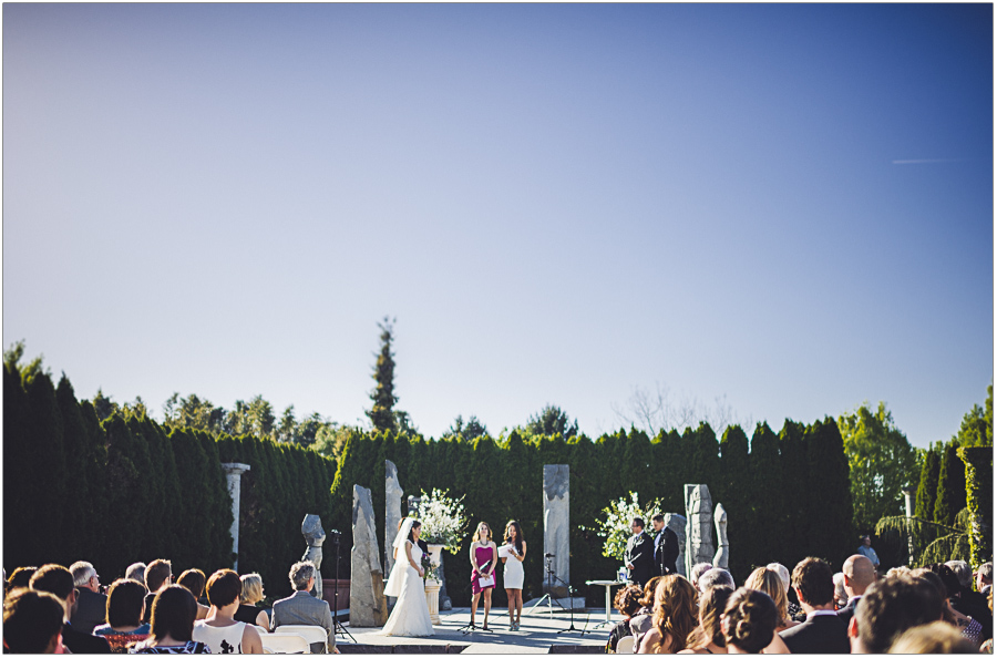 Nine Muses Wedding Ceremony at grounds for sculpture