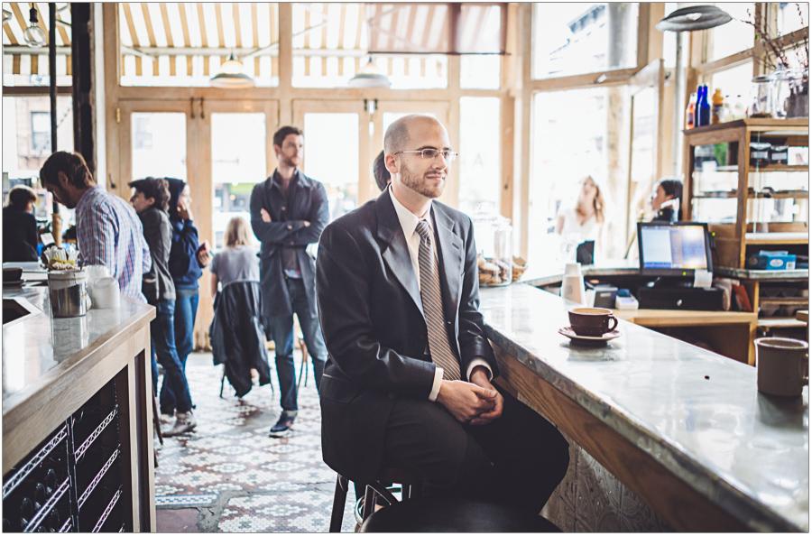 Groom Awaits Bride Ost Cafe