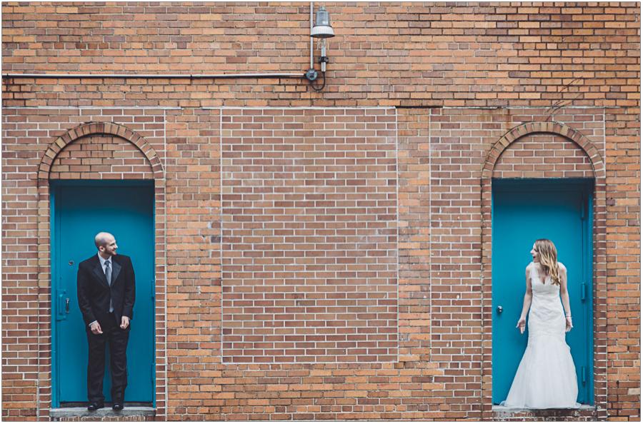 Fun Bride Groom Portrait East Village