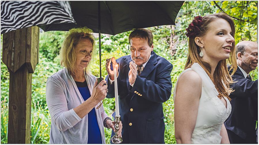 Wedding Candle and Rain