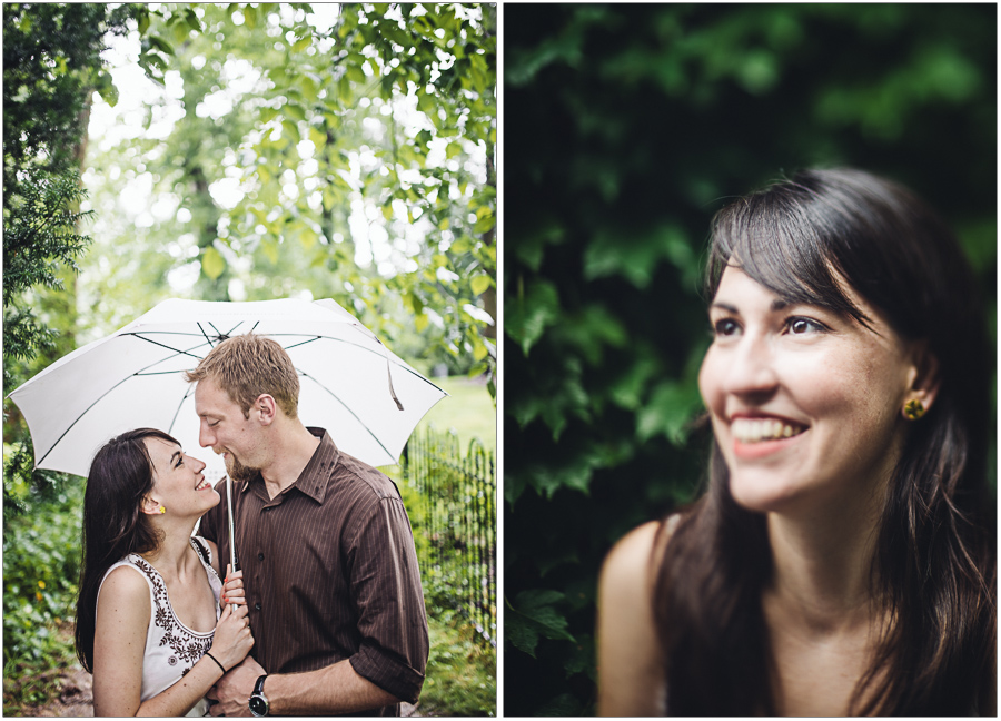 Freelensing Portrait in the rain