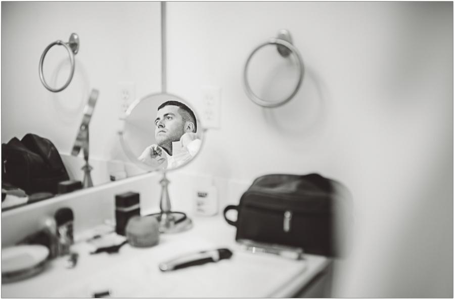 Wedding Photographer Groom Prep