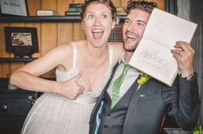 Photo Booth at the Green Building Brooklyn Wedding