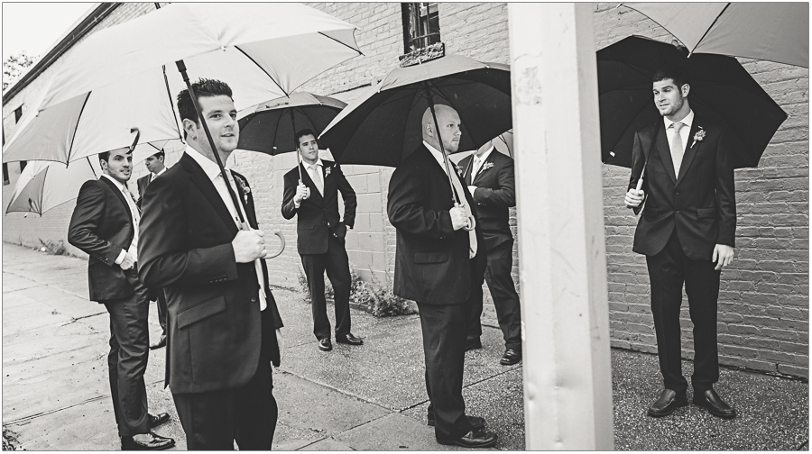 Brooklyn Groomsmen in the Rain