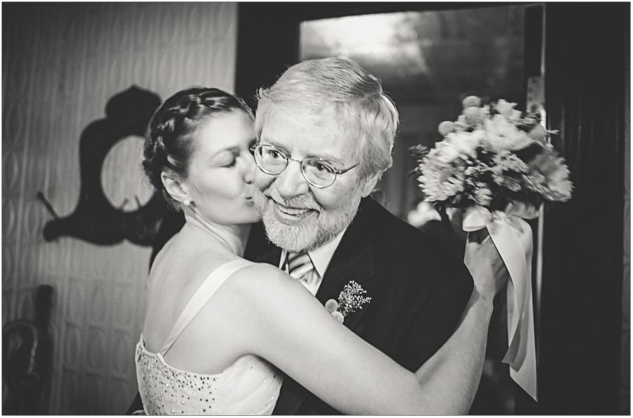 a Happy Father of the bride Bride